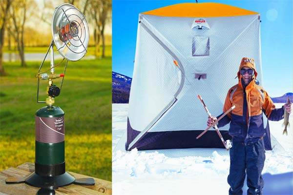 How to heat ice fishing tent